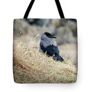 Crow In The Gras Tote Bag