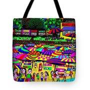 Crowded Beach Tote Bag