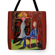 Crucified Starlet And Her Serenading Egg Tote Bag