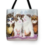Cuddle Kitties Tote Bag