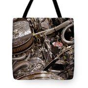 Custom Car Chromed Engine Tote Bag