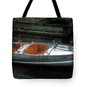 Cute Boat - 1948 Feather Craft Tote Bag