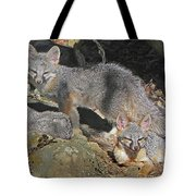 D-a0072 Fox Family On Our Mountain Tote Bag