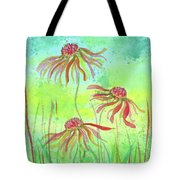 429c4281e48d Dancing Flowers Tote Bag for Sale by Susan Campbell