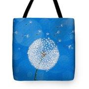 Dandelion Flying Tote Bag