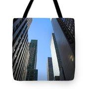 Dark Manhattan Skyscrapers Tote Bag