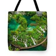 Dave Ruberto - Wonderful Green Nature Waterfall Landscape  Tote Bag