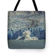 Dawes Glacier Calving #1 Tote Bag