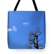 Dead Tree And Two Clouds Tote Bag
