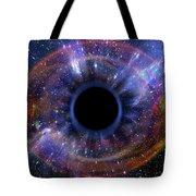 Deep Black Hole, Like An Eye In The Sky Tote Bag