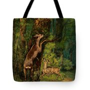 Deer In The Forest, 1868 Tote Bag