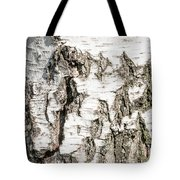 Detail Of Brich Bark Texture Tote Bag