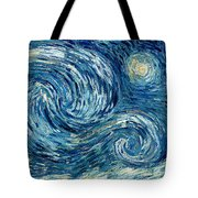 Detail Of The Starry Night Tote Bag