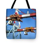 Detail View Of Container Loading Cranes Tote Bag