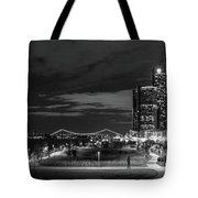 Detroit River Walk Panorama Tote Bag