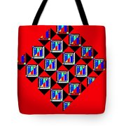 Diamond Red Tote Bag