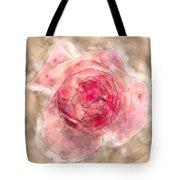 Digitally Manipulated Pink English Rose  Tote Bag