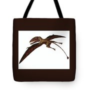 Dimorphodon On White Tote Bag