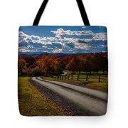 Dirt Road Through Vermont Fall Foliage Tote Bag