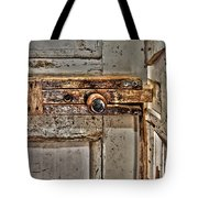Door Latch Tote Bag