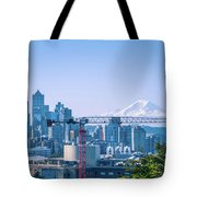 Downtown Cityscape View Of Seattle Washington Tote Bag