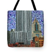 Downtown Pittsburgh - View From Smithfield Street Bridge Tote Bag