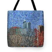 Downtown Raleigh - View From Chavis Park Tote Bag