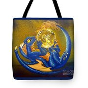 Dragon And Captured Fairy Tote Bag