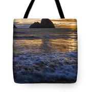 Dramatic Sunset Oregon Coast Usa Tote Bag