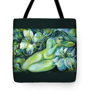 Dreaming Flower Tote Bag