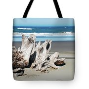 Driftwood On Beach Tote Bag