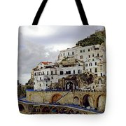 Driving The Amalfi Coast In Italy Tote Bag