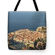 Dubrovnik And The Adriatic Coast In Croatia Tote Bag