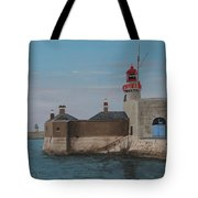 Dun Laoghaire Lighthouse Tote Bag