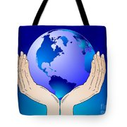 Earth In The Your Hands Tote Bag