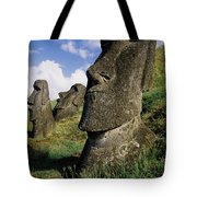 Easter Island Moai Tote Bag