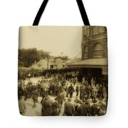 Ebbets Field Crowd 1920 Tote Bag