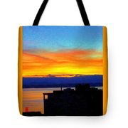 Edgewater Sunset Tote Bag