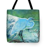 Egret In The Summer Breeze  Tote Bag