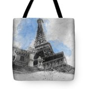 Eiffel Tower Of Paris Tote Bag
