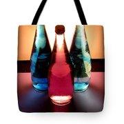 Electric Light Through Bottles Tote Bag