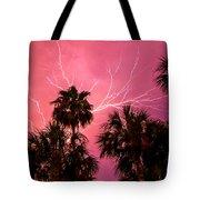 Electrified Palms Tote Bag