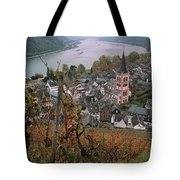 Elevated View Of Bacharach Tote Bag