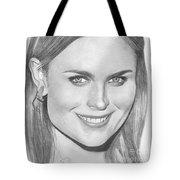 Emily Deschanel Tote Bag