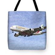 Emirates A380 Airbus Oil Tote Bag