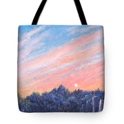 enchanced Catching the Sunset  Tote Bag