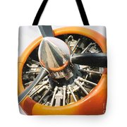 Engine And Propellers Of Aircraft Close Up Tote Bag