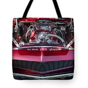Engine Compartment Of Chromed Camaro Tote Bag