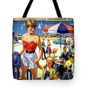 England Weston Super Mare Vintage Travel Poster Tote Bag