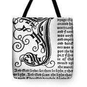 English Bible, 1535 Tote Bag